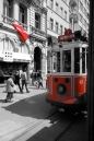 Red Trolley on Istiklal Street