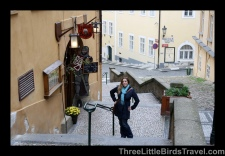 About to drink some pivo in a medieval pub in Prague - Czech Republic. Sisters Trip 2012