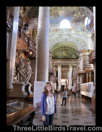 Lauren at a library in Vienna, Austria. Sisters Trip 2012