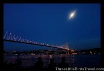 View the Bosphorus Bridge (Connecting Europe and Asia)