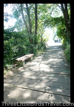 Walk along the Boardwalk on the Toronto Islands