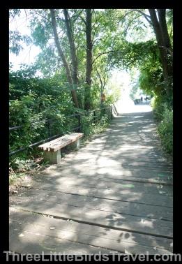 Walk along the Boardwalk on the Toronto Islands